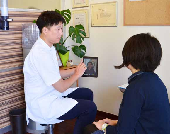 美容鍼のカウンセリングに画像診断