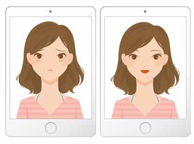 施術前と施術後の画像を比較