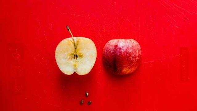 酸化したリンゴ